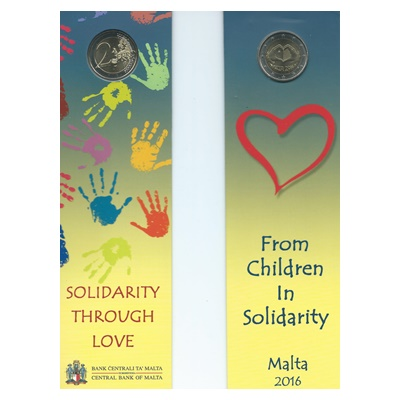 2016 €2 Coin - From Children in Solidarity - LOVE