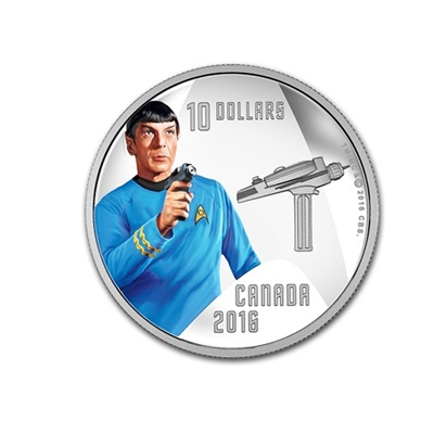 2016 $10 Silver Proof Coin - First Officer Spock - Click Image to Close