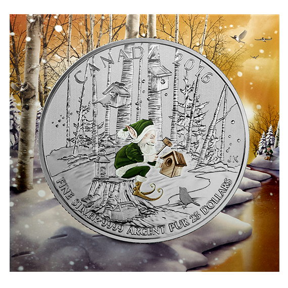 2016 $25 1/4oz Silver Coin - WOODLAND ELF