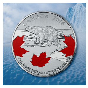 2016 $25 1/4oz Silver Coin - TRUE NORTH