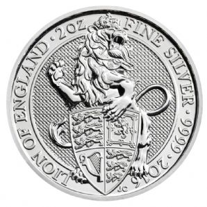 2016 2oz Silver Queen's Beasts - The Lion