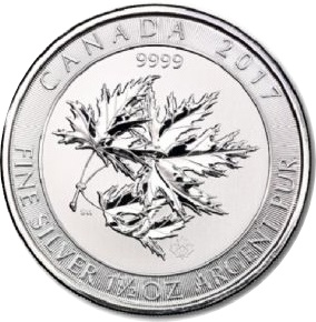 2017 1 1/2oz Silver MAPLE