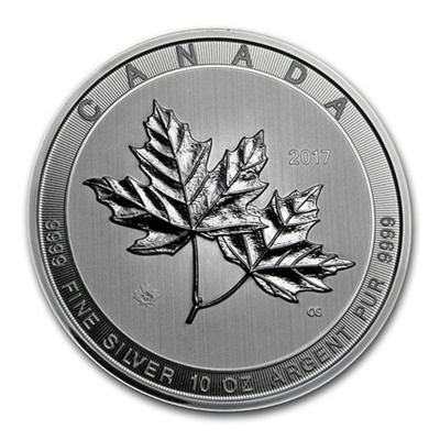 2017 Canada 10oz Silver MAPLE - Magnificent Maple Leaves