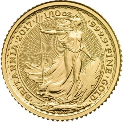 2017 1/10th oz Gold BRITANNIA