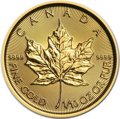 2017 1/10th oz Gold MAPLE