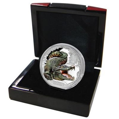2017 1oz Silver Proof Coin - Saltwater Crocodile