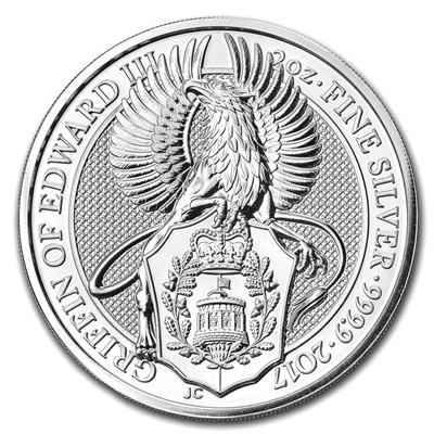 2017 2oz Silver Queen's Beast - The Griffin