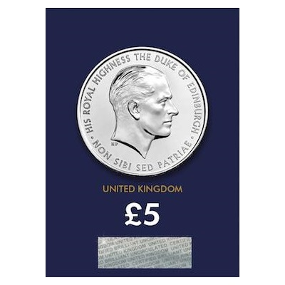 2017 £5 BU Coin (Card) - HRH Duke of Edinburgh
