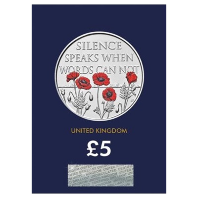 2017 BU £5 Coin (Card) - Remembrance Day
