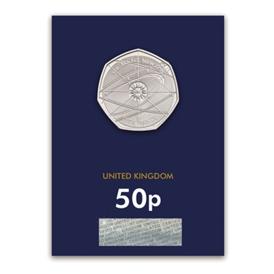 2017 BU 50p Coin (Card) - Sir Isaac Newton - Click Image to Close