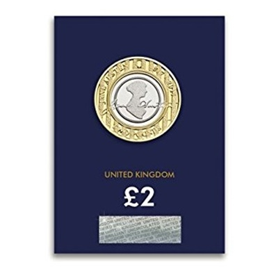 2017 BU £2 Coin (Card) - Jane Austen