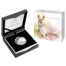 2017 1oz Silver Proof Kangaroo - Seasons Change