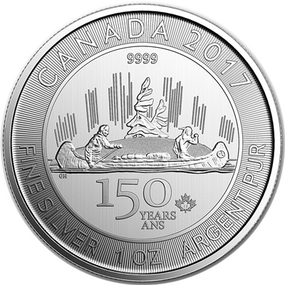 2017 $5 1oz Silver - 150th Ann Voyageur - Click Image to Close