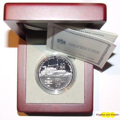 2017 Silver Proof €10 - Santa Marija Convoy & George Cross Award