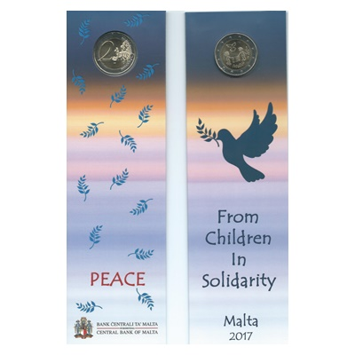 2017 €2 Coin - From Children in Solidarity - PEACE