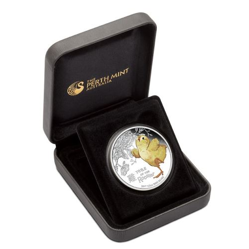 2017 1/2oz Silver Proof Coin - Lunar BABY ROOSTER