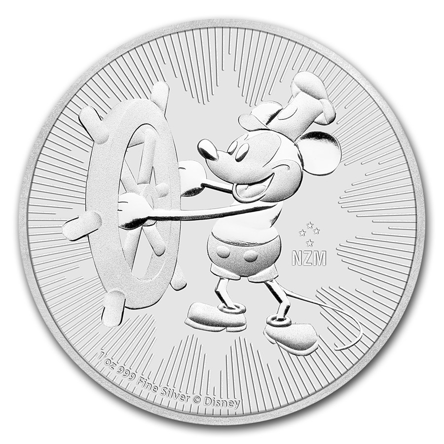 2017 Niue 1oz Silver $2 Disney Steamboat Willie