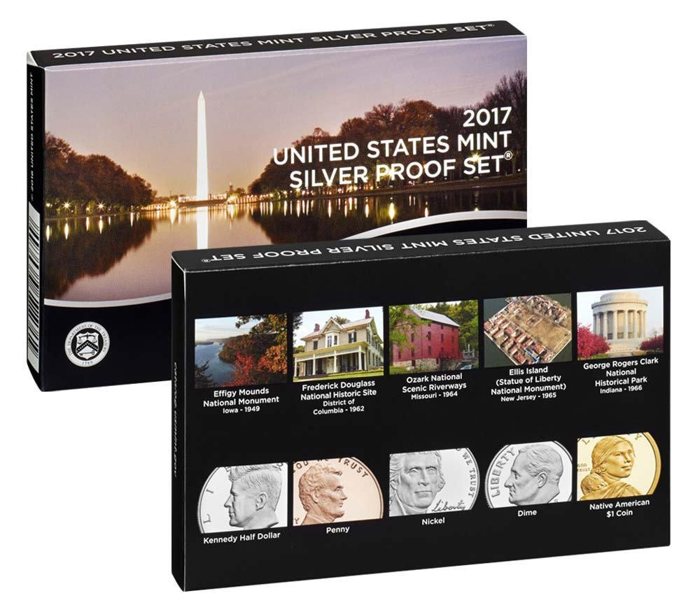 2017 United States Mint Silver Proof Coin Set