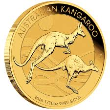 2018 Gold 1/10th oz Australian KANGAROO (Nugget)