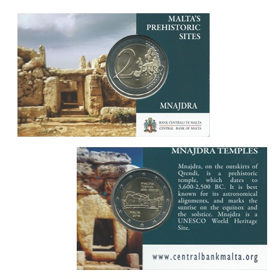 2018 €2 Coin - Malta's Prehistoric Sites - Mnajdra
