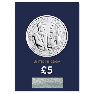 2018 £5 BU Coin (Card) - Royal Wedding