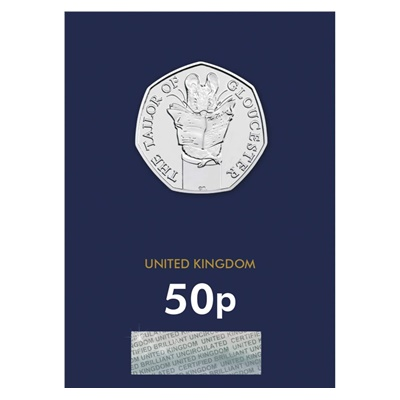 2018 BU 50p Coin (Card) - The Tailor of Gloucester