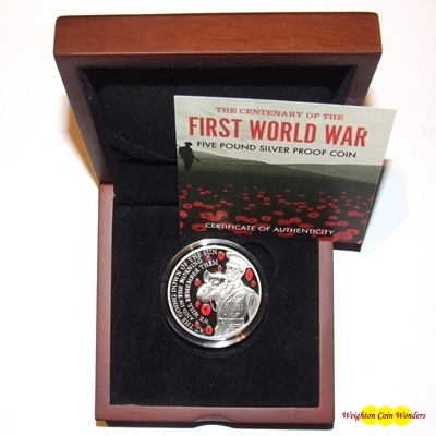 2018 Silver Proof £5 - Centenary of the First World War
