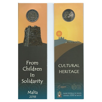 2018 €2 Coin - From Children in Solidarity - CULTURAL HERITAGE