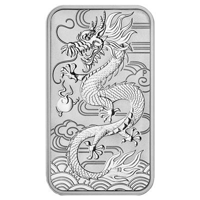 2018 $1 Silver Dragon 1oz Coin Bar