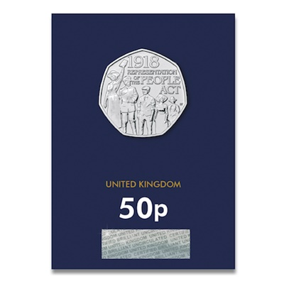 2018 BU 50p Coin (Card) - Representation of the People Act