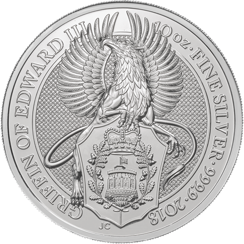 2018 10oz Silver Queen's Beast - THE GRIFFIN