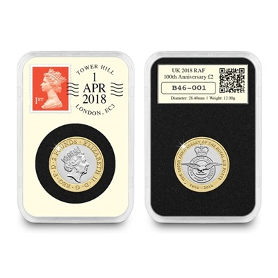 2018 DateStamp™ £2 RAF Centenary Badge