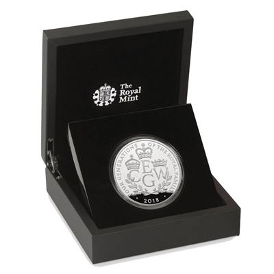 2018 Silver Proof PIEDFORT £5 - Four Generations of Royalty