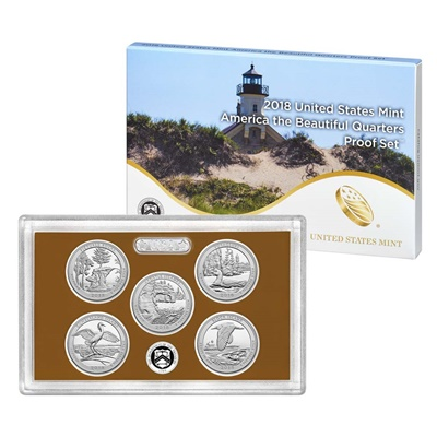 2018 USA America the Beautiful Quarters Proof Set