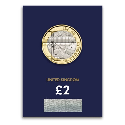 2017 £2 BU Coin (Card) - WWI Aviation