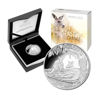 2018 1oz Silver Proof Kangaroo - Seasons Change