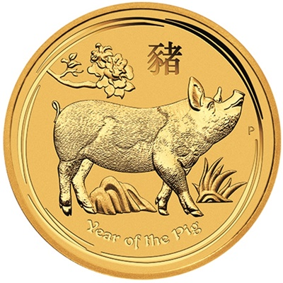 2019 1oz Gold Lunar PIG - Series II - NOW AVAILABLE