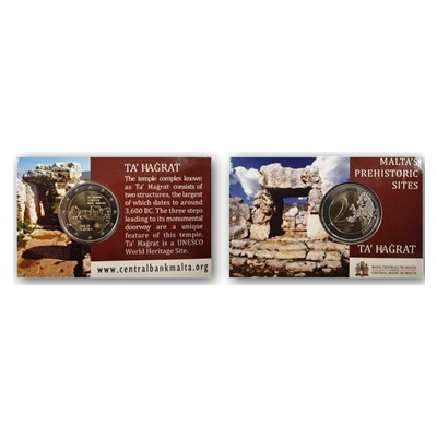 2019 €2 Coin - Malta's Prehistoric Sites - Ta' Hagrat