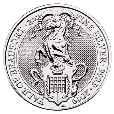 2019 2oz Silver Queen's Beast - THE YALE