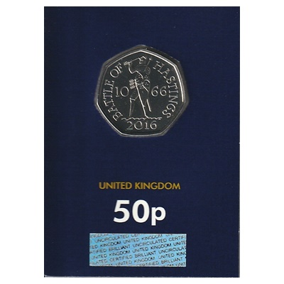 2019 BU 50p Coin (Card) - Battle of Hastings