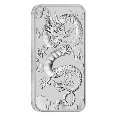 2019 $1 Silver Dragon 1oz Coin Bar