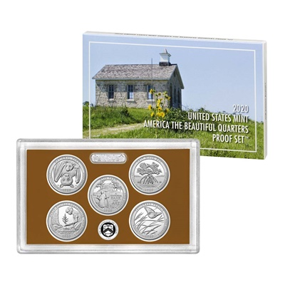 2020 USA America the Beautiful Quarters Proof Set