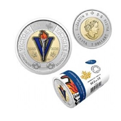 2020 $2 Coloured Wrap Roll - 75th Anniversary - End of WWII