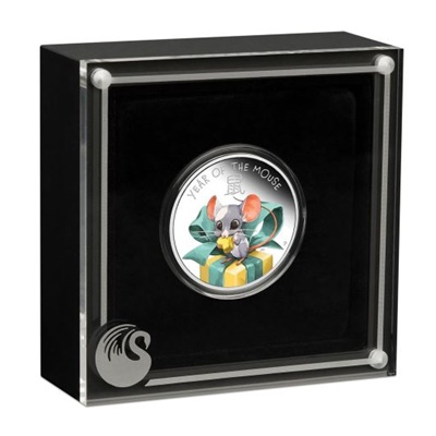 2020 1/2oz Silver Proof Coin - Lunar BABY MOUSE