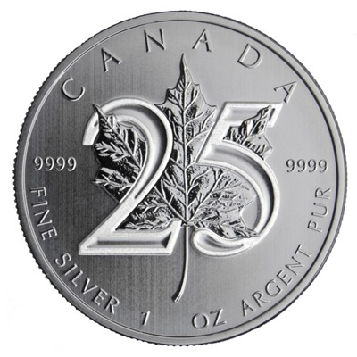 2013 1oz Silver Maple - 25th Anniversary Edition