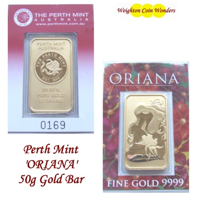 10g 'ORIANA' GOLD Bar - Perth Mint