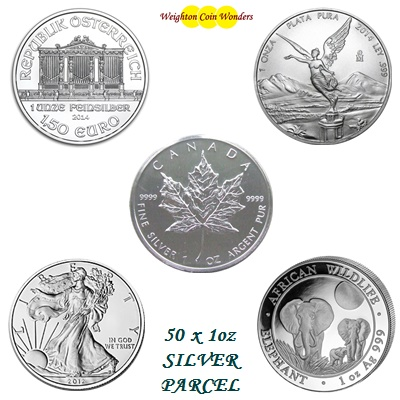 50 oz Silver Coin Investment Parcel No 3