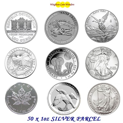 50 oz Silver Coin Investment Parcel