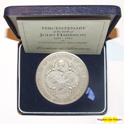 1993 Tercentenary - Birth of John Harrison Medal (1693 - 1993)