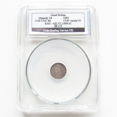 1888 VictoriaI Silver Maundy 2d - CGS UNC 88